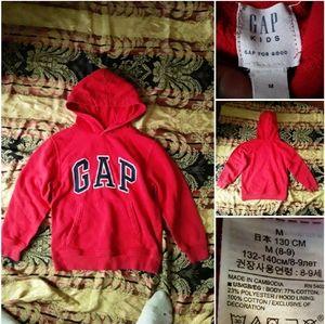 GAP Kids (8-9) Unisex Red Classic Hoody Sweatshirt